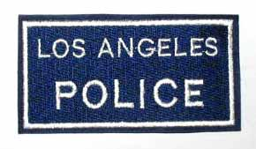 Los Angeles POLICE, AR293 - Вышитый знак Los Angeles POLICE, AR293